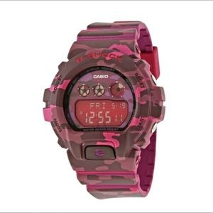 G Shock Watch in Camo Pink
